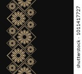 golden frame in oriental style. ... | Shutterstock .eps vector #1011417727