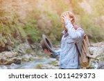 traveler young man wearing in...   Shutterstock . vector #1011429373