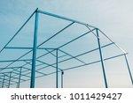 minimalistic geometric metal...   Shutterstock . vector #1011429427