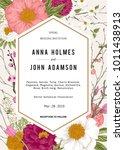 wedding invitation. spring... | Shutterstock .eps vector #1011438913
