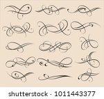 set of elegant decorative... | Shutterstock .eps vector #1011443377
