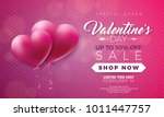 valentines day sale... | Shutterstock .eps vector #1011447757