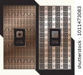 luxury cards. vector menu... | Shutterstock .eps vector #1011473083