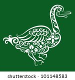 decorative duck. animal and... | Shutterstock .eps vector #101148583