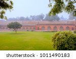 agra fort is a historical fort... | Shutterstock . vector #1011490183