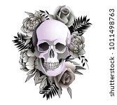 vector illustration of skull... | Shutterstock .eps vector #1011498763