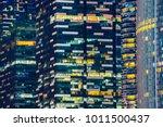 glass facade of modern city... | Shutterstock . vector #1011500437