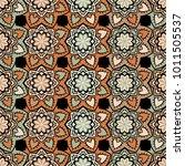 vector seamless pattern ethnic... | Shutterstock .eps vector #1011505537