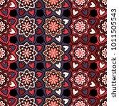 vector seamless pattern ethnic... | Shutterstock .eps vector #1011505543