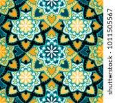 vector seamless pattern ethnic... | Shutterstock .eps vector #1011505567