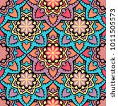 vector seamless pattern ethnic... | Shutterstock .eps vector #1011505573