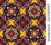 vector seamless pattern ethnic... | Shutterstock .eps vector #1011505597