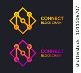 letter n colorful dots logo... | Shutterstock .eps vector #1011506707