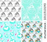 pattern sack doodle vector  | Shutterstock .eps vector #1011513193