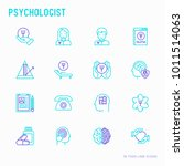 psychologist thin line icons... | Shutterstock .eps vector #1011514063