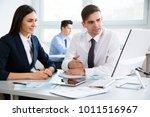 business people working... | Shutterstock . vector #1011516967