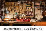 violin maker workshop 1  text... | Shutterstock . vector #1011524743