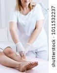hot wax depilation procedure   Shutterstock . vector #1011532237