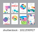 set of creative universal... | Shutterstock . vector #1011550927