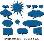 vector comics speech bubbles... | Shutterstock .eps vector #101155123