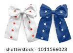 set of two bows with stars... | Shutterstock .eps vector #1011566023