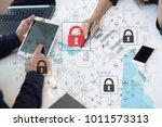 cyber attack detection.... | Shutterstock . vector #1011573313