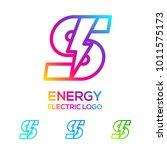letter s line monogram colorful ... | Shutterstock .eps vector #1011575173
