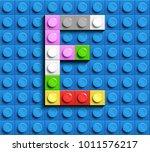 Colorful Letters E Of Alphabet...