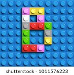 Colorful Letters B Of Alphabet...