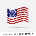 usa tattered flag design | Shutterstock .eps vector #1011577213