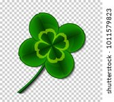 leaf of a clover symbol of... | Shutterstock .eps vector #1011579823
