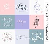 set of nine calligraphic text... | Shutterstock .eps vector #1011586717