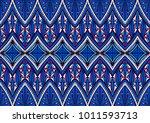 geometric folklore ornament.... | Shutterstock .eps vector #1011593713