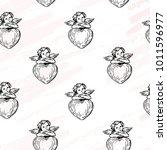 vector illustration. cupids... | Shutterstock .eps vector #1011596977