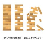 tower games for kids and adults ... | Shutterstock .eps vector #1011599197