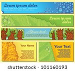 set of eco banners and business ...