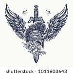 ancient soldier  spartan... | Shutterstock .eps vector #1011603643