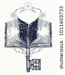book and key tattoo and t shirt ... | Shutterstock .eps vector #1011603733