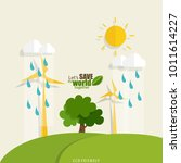 eco friendly. ecology concept... | Shutterstock .eps vector #1011614227