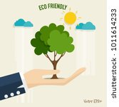 eco friendly. ecology concept... | Shutterstock .eps vector #1011614233