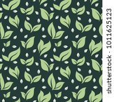 seamless pattern green repeated ... | Shutterstock .eps vector #1011625123