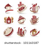 a collection of icons of... | Shutterstock .eps vector #101163187