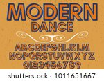 vintage font typeface... | Shutterstock .eps vector #1011651667