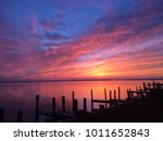 sunset in ocean city maryland  | Shutterstock . vector #1011652843