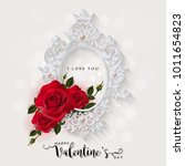 valentine's day greeting card... | Shutterstock .eps vector #1011654823