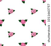 seamless wallpaper pink roses    Shutterstock .eps vector #1011663757