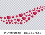 heart fly out template ... | Shutterstock .eps vector #1011667663