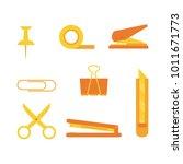 set of office tools. document... | Shutterstock .eps vector #1011671773