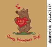 cute doodle tribal illustratoin ... | Shutterstock .eps vector #1011679837