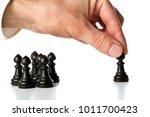 business man moving chess... | Shutterstock . vector #1011700423